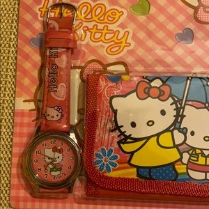 ON SALE!! Set of  Hello Kitty: watch and wallet